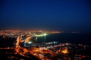 Agadir city by night