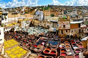 the luxury moroccan tour. Fes tanneries
