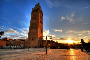 The Kotoubia Tower In Marrakech