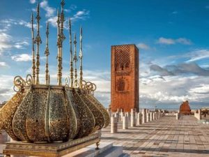the luxury moroccan tour. Rabat Hassan tower